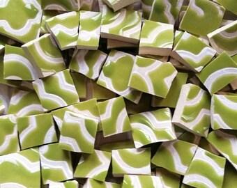 Mosaic Tiles--Moroccan Green -Quatrefoil--100 Tiles