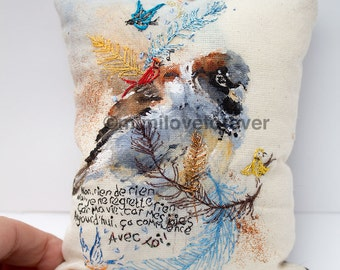 One of a Kind Gift.  Original Bird Artwork. Hanging Bird Keepsake. Unique Gift. Highly Detailed