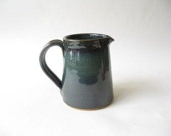 Pottery Creamer 2 Cup, Pottery Jug, Stoneware Pitcher