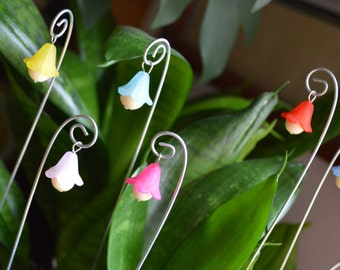 Glow In The Dark, Flower Fairy Lights, 3 FROSTED, Fairy Lanterns, Magical Miniature, Fairy Garden, Plant Bling