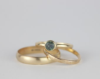 Sapphire Engagement Ring. 9ct Gold Ring. Simple Engagement Ring. UK Sellers Only. Gemstone Jewellery. Wedding Band. Bridal Jewellery.