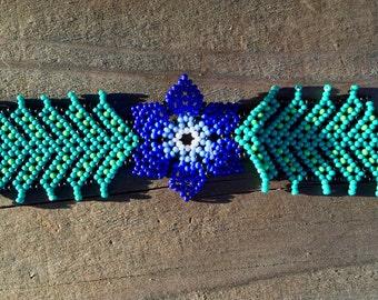 Huichol Indian beaded bracelet.