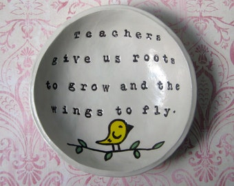 Teacher Gifts: Personalized, Principal Gift, Teacher Name Sign, Speech Teacher, Wing to Fly Bowl
