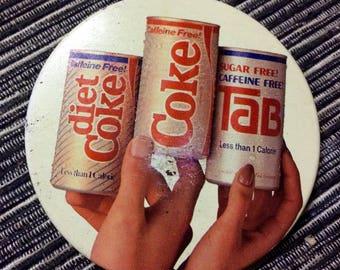 Vintage Coke Diet Coke and Tab Pin
