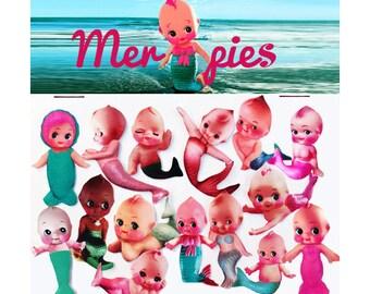 kewpie mermaid stickers cute big eye dolly baby boopsiedaisy sticky poos