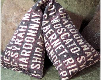 Large Heat Wrap, Wine Lovers Flannel Fabric,  Moist Heat Pad, Neck Heat Pad, Cherry Pits, Girlfriend Gift