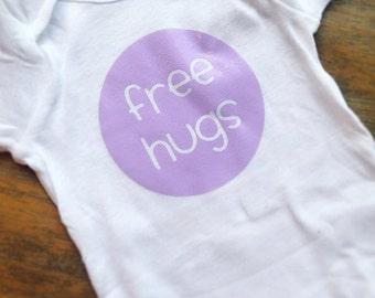 Free Hugs baby onesie shirt bodysuit