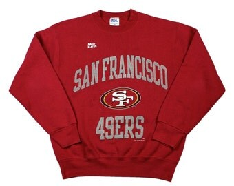 Vintage 1990s 90s 1996 San Francisco Forty Niners 49ers Crewneck Sweatshirt Made in USA Mens Size Medium