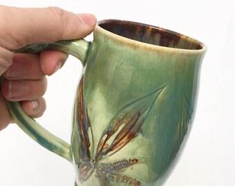 Green Floral Mug IN STOCK