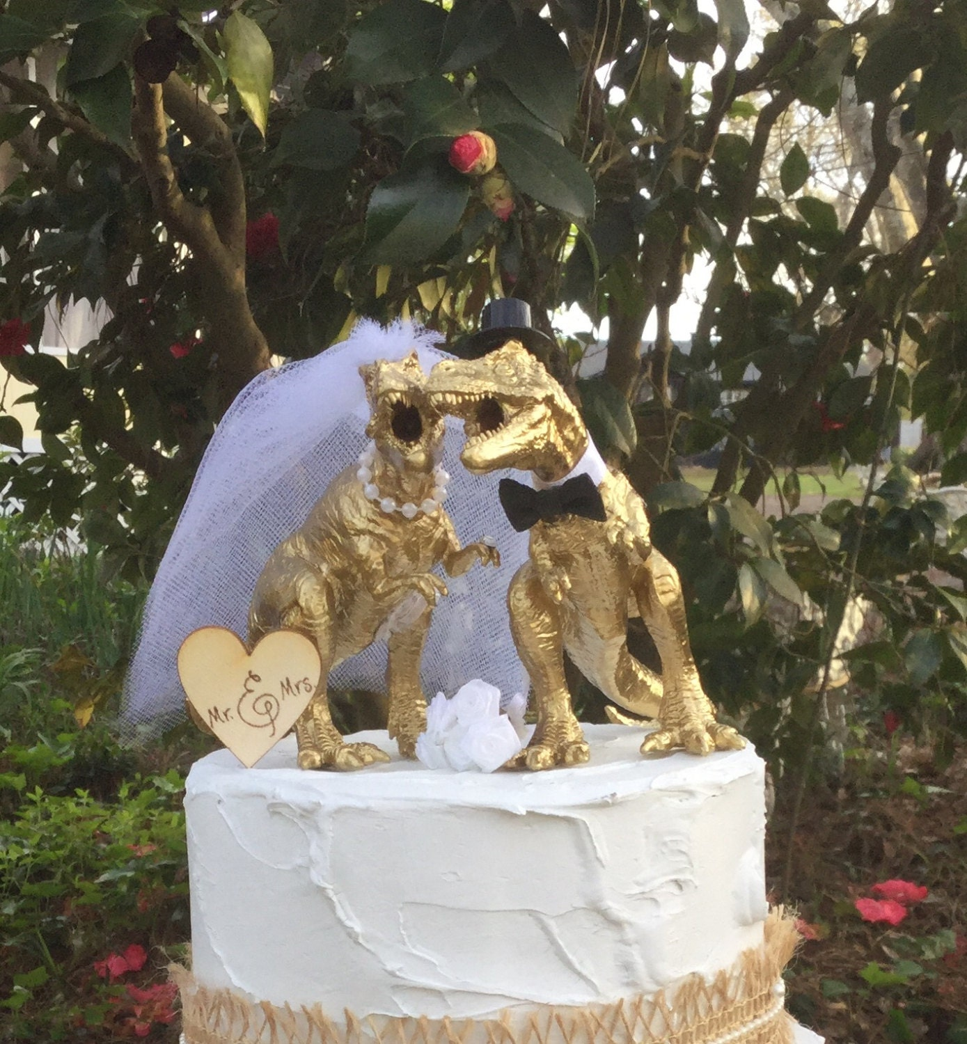 dinosaur wedding cake dinosaur wedding cake topper t rex cake topper gold 13530
