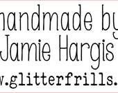 "custom 3"" x 1.5"" wood mounted stamp for Jamie Hargis.cdr"