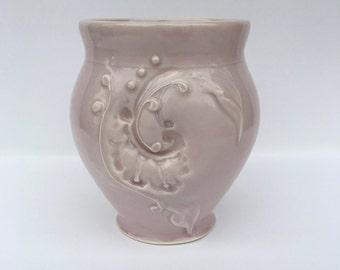 Violet pink small vase