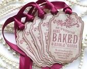 Baked Goods Tags - Custom Listing