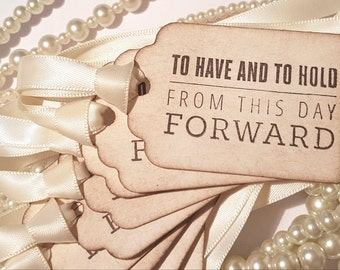 Wedding Favor Tags, Ivory Wedding Favours, To Have and To Hold, Jam Jar Labels, Wine Bottle Labels, Tea Favours, Alcohol Favours