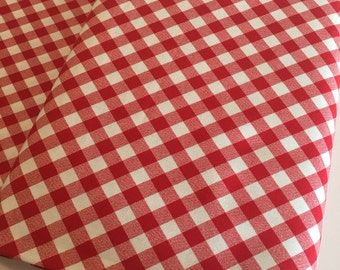 Gingham Fabric, Gingham Dress 50's fabric, Gingham Dress, Girls Gingham Dress fabric, Bonnie and Camille, Gingham in Red, Choose your cut