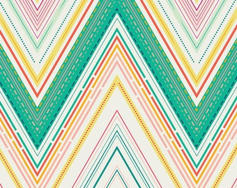 Chevron Fabric, Bright Fabric, Home Decor or Sewing fabric, Art Gallery Fabric, Fabric by the Yard, Vivacious Marvel Joyful- Choose the cut