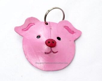 Leather Piggie Keychain (MIS142)