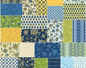 "SQ15 Robert Kaufman LA PROVENCE Precut 5"" Charm Pack Fabric Quilting Cotton Squares CHS-560-42"