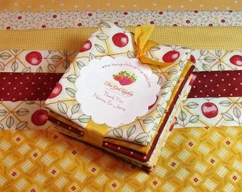 Fabric Bundle | Fat Sixteenths | Stash Builder | Evonne Cook | Karia Dornacher | Lake House Goods | Gold - Red - Green - Small Retro Prints