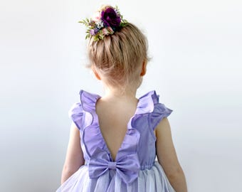 Lavender Flower Girl Dress, Purple Flower Girl, Purple Wedding, Purple Birthday Party Dress, Mermaid or Unicorn Birthday Toddler Girl Dress