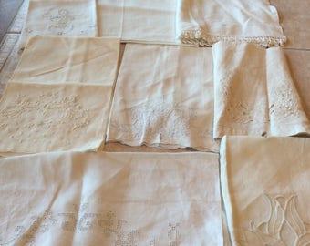 Vintage Linen Value Bundle Eight off white Towels VB12