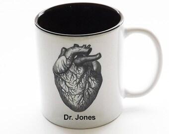Personalized Gift Doctor Mug custom medical staff office coffee graduation party favor anatomy goth unique stocking stuffer cardiology nurse