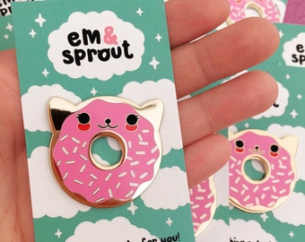 Donut Cat Enamel Pin