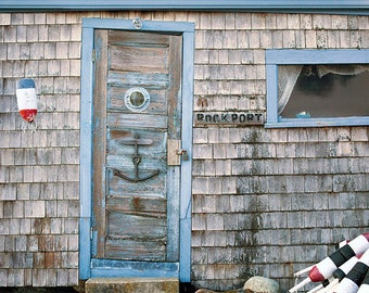 Fishing Hut, Print or Canvas Art, Nautical Photography, Lobster Buoys, New England, Weathered, Rustic, Beach Decor - Crooked Little Shack