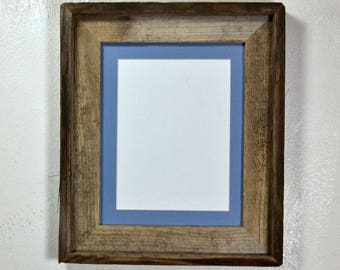 5 x 7 or 8 x 6 mat in 8x10 frame from rustic reclaimed wood 20 mat colors to choose from ready to ship free shipping