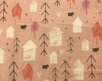Cotton + Steel Cozy Neighbor Peach 100% Cotton Fabric
