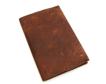 Refillable Brown Leather Journal, Lined Journal, Moleskine Cover, Journal Cover, Graduation Gift, Father's Day Gift, Writer's Gift