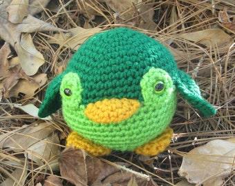Irish Green Penguin, Plush Penguin, Amigurumi Penguin Toy, Stuffed Animal Penguin, St. Patrick's Day Penguin. Gift Idea. Toybox Toy