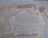 Handwritten Recipe Cards from the Past Lot of 67