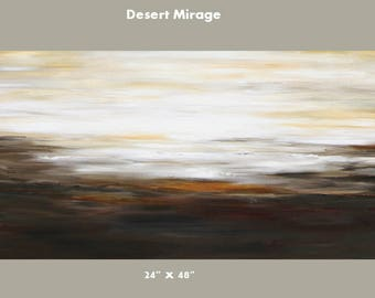 Large painting modern desert scene 24 x 48 canvas wall art original creation