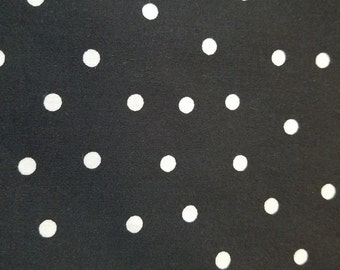 New fabric, quilt, quilting, sewing, black and white, polka-dot, dots