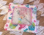 Owl Ispy Peek-A-Boo Bag - Travel Quiet Toy Kids - READY TO SHIP