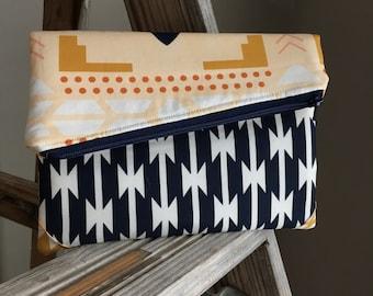 Women's Fold Over Clutch, Fabric Clutch, Clutch Wallet, Wallet Organizer, Credit Card Wallet, Women's Handbag, Cash Wallet, Phone Wallet