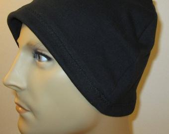 2 for 12.00 Mens Chemo Hat Liners Helmet Liner cj hats Sleep Knit Cap  Knit Cotton Stretch cj hats