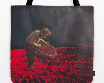 Tote Bag - the gleaner - surreal vintage-inspired collage art for the dreamer
