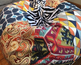 NEW Fun And Funky Multi Prints Bean Bag Chair Cover Liner Unfilled You Fill Southwest