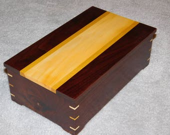 Walnut Memory Box with Buckeye and Yellowheart Accents