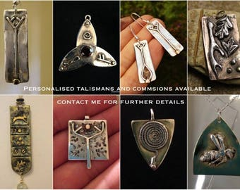 bespoke talismans and personalised commissions,totems silver