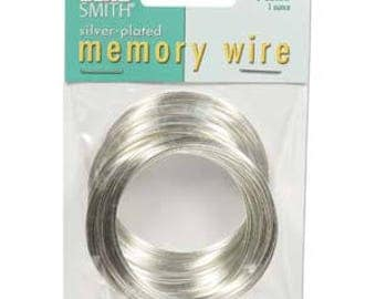 """Beadsmith Silver Plated Memory Wire 2"""" Diameter, 1 Ounce"""