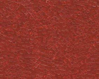 Transparent Red Orange Miyuki Cube Seed Bead 1.8mm 8.2gm Tube SB18-140-TB