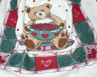 Bear with Berries Crocheted Kitchen Towel