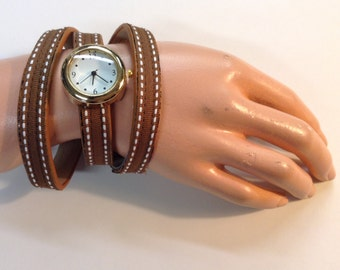 Ribbon Covered Wrap Around Watch