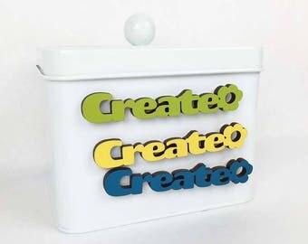 Create Magnet, Inspiration Magnet, Artists Desk Magnet, Office Desk Magnet, Funky Mini Magnet