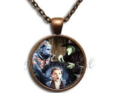ON SALE - Wizard of Oz Flying Monkey - Round Glass Dome Pendant or with Necklace by IMCreations -  WZ109