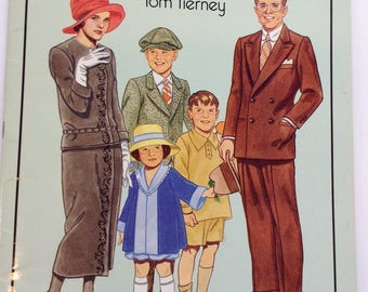 Vintage Paper Dolls American Family of 1920's by Tom Tierney 1988 edition Roaring Twenties