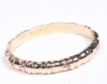 14 KT Gold Bamboo Bangle Bracelet 585 (26.75 grams)